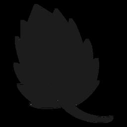 Icono de hoja festoneada