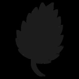 Icono de hoja serrada