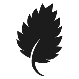 Serrate leaf icon