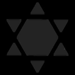 Escudo de david icono negro