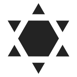 Shield of david black icon