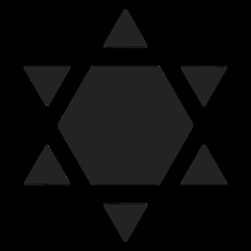Schild von David schwarze Ikone Transparent PNG