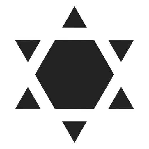 Shield of david black icon Transparent PNG