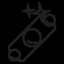 Icono de pulsera brillante brazalete