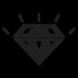 Shiny diamond stone icon