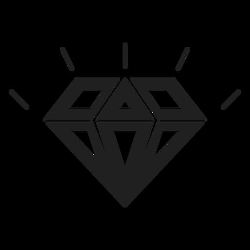 Icono de piedra diamante brillante Transparent PNG