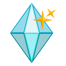 Shiny diamond stone vector