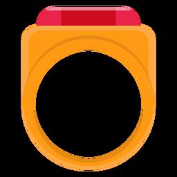 Siegelring-Vektor-Symbol