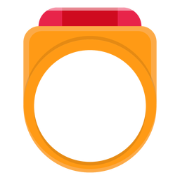 Signet ring vector icon