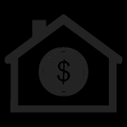 Icono de banco simple Transparent PNG