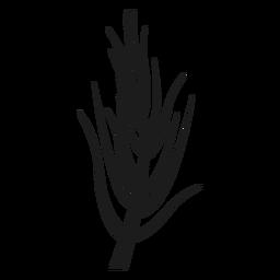 Einfache nackte Stengel Silhouette