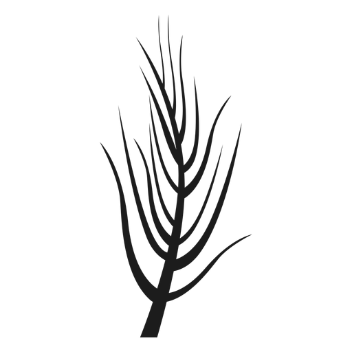 Simple bare stem silhouette Transparent PNG