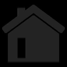 Icono de casa negro simple