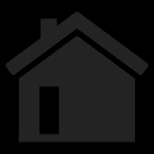 Ícone de casa preta simples Transparent PNG