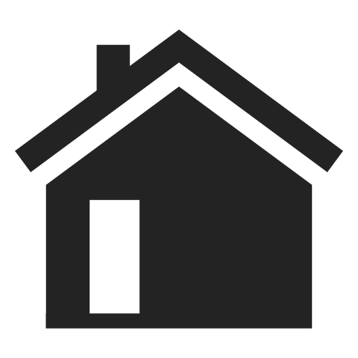 Simple black home icon Transparent PNG