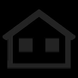 Casa simples bungalow ícone