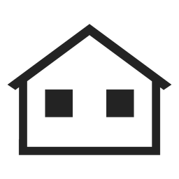Simple bungalow home icon