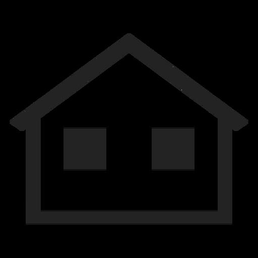 Einfacher Bungalow zu Hause Symbol Transparent PNG