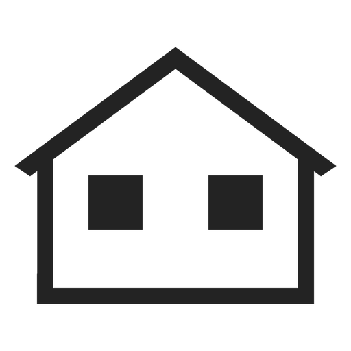 Simple bungalow home icon Transparent PNG