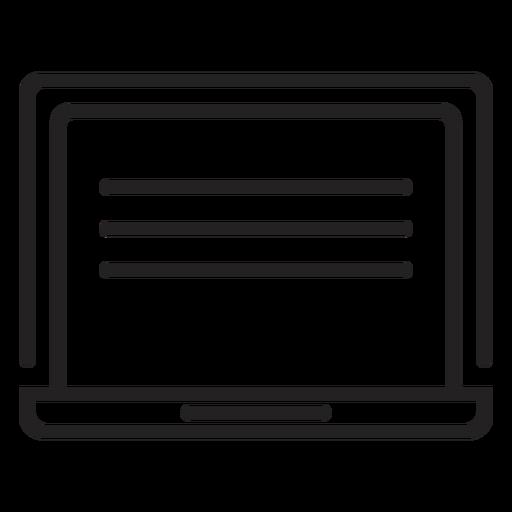 Icono de pantalla de computadora simple Transparent PNG