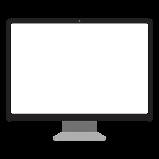 Computador de ícone de tela de computador simples Transparent PNG