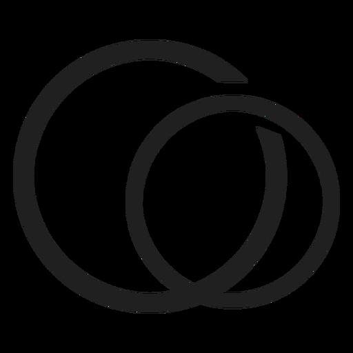 Pareja simple icono de anillo Transparent PNG