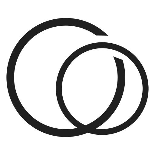 Simple couple ring icon Transparent PNG