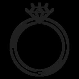 Ícone de anel de diamante simples