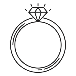 Simple diamond ring icon