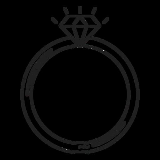 Icono de anillo de diamante simple Transparent PNG