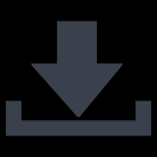 Icono de descarga simple