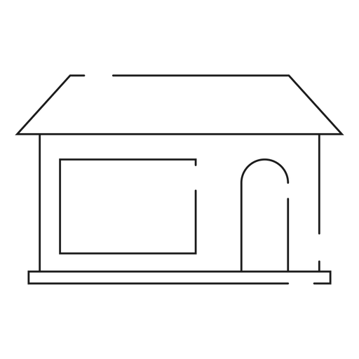 Simple home line icon Transparent PNG