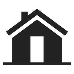 Simple house black silhouette