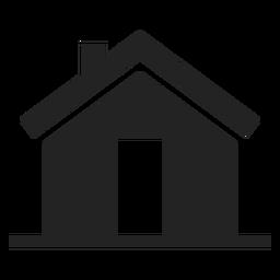 Simple house black silhouette