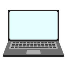 Simple laptop icon