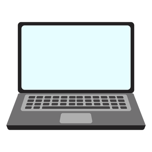 Simple laptop icon Transparent PNG