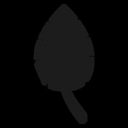 Ícone de folha preta simples