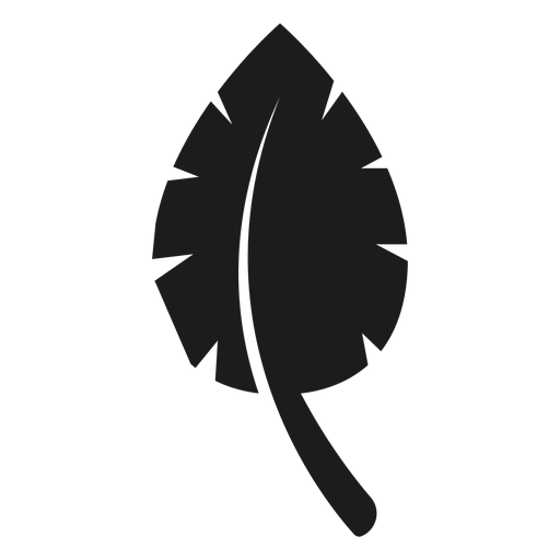 Icono simple hoja negra Transparent PNG