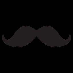 Einfacher Schnurrbart schwarze Ikone