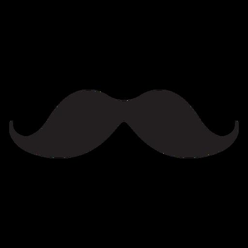 Simple moustache black icon Transparent PNG
