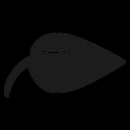 Ícone de folha preta pontiagudo simples