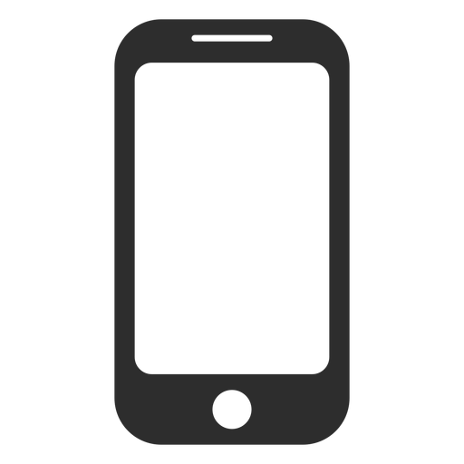 Simple smartphone icon Transparent PNG
