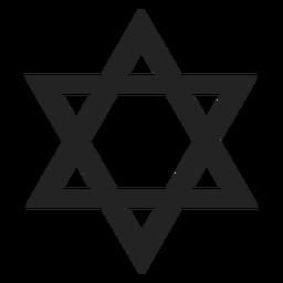 Ícone de estrela simples de david preto