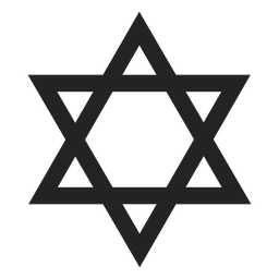 Simple star of david black icon
