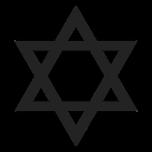 Einfache Davidstern schwarze Ikone Transparent PNG