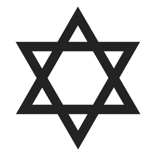 Simple star of david black icon Transparent PNG