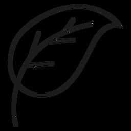 Einfaches Stamm- und Blatt-Symbol