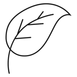 Ícone simples de caule e folha