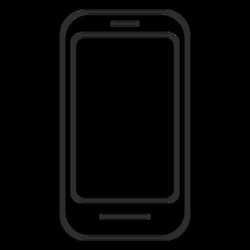 Icono de teléfono con pantalla táctil simple