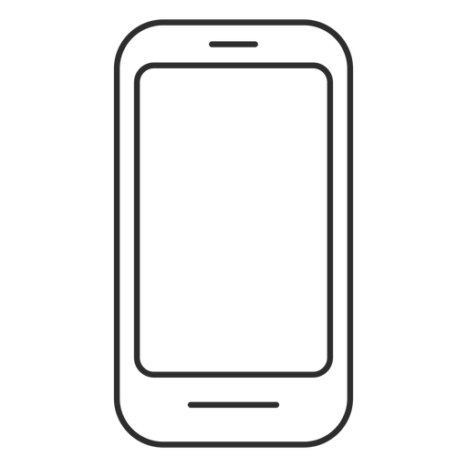 Simple touchscreen phone icon Transparent PNG
